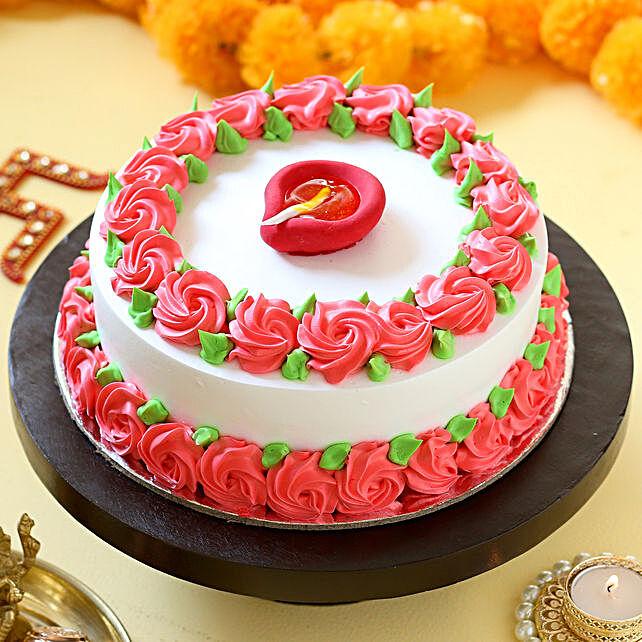 Designer diya topper cake online