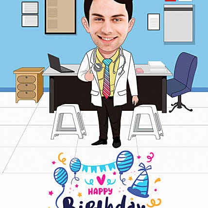 personalised caricature for him online