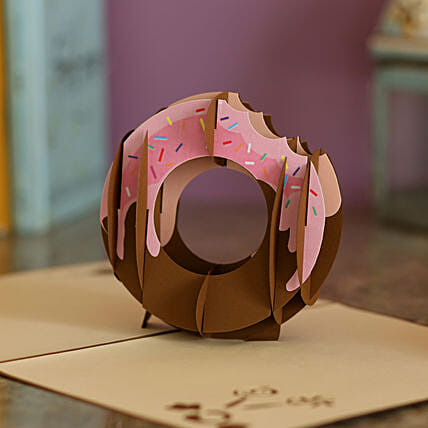 Online Donut Pop Up Card