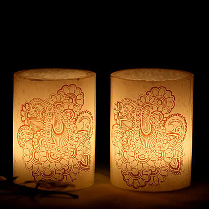 2 Hollow Heena Candles