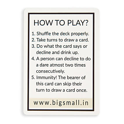 Drinking Game Playing Cards