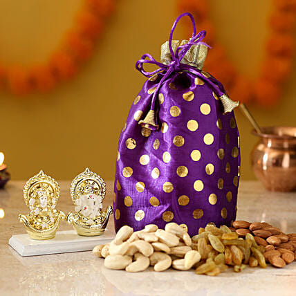 combo of diwali idol and dry fruits online