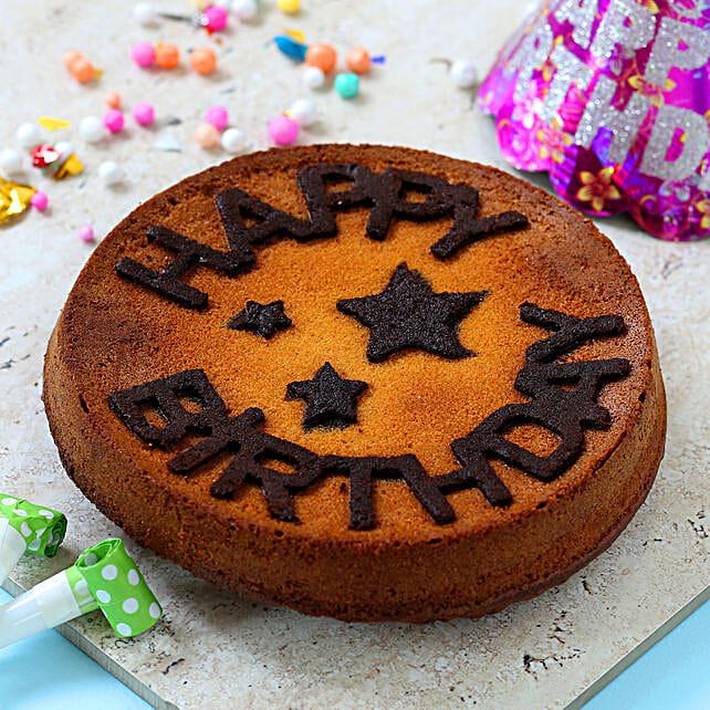 almond dry cake for birthday