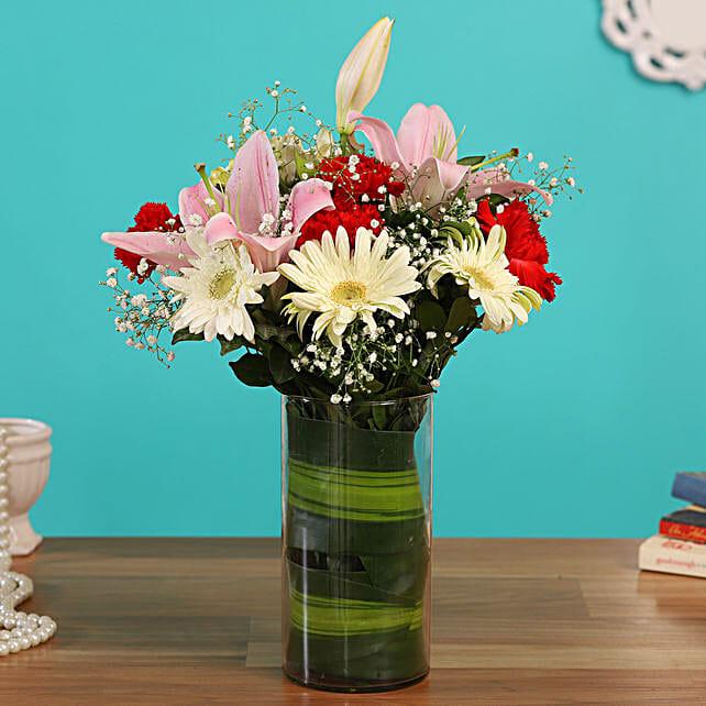 online flower vase arrangement