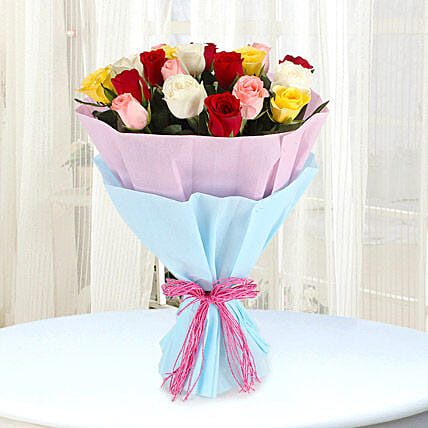 Elegant Mix - Bunch of 25 Mix colour roses.