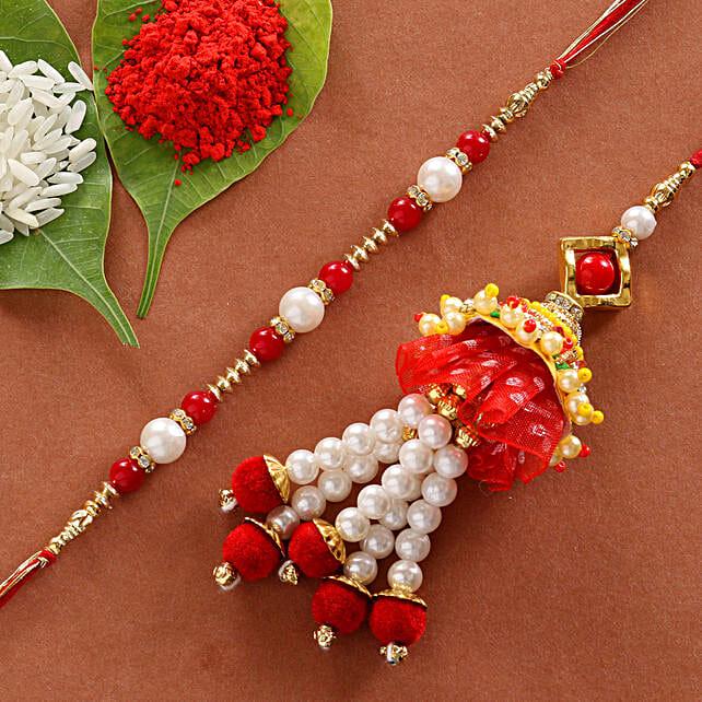 royal lumba rakhi set online:Rakhi Gifts For Bhaiya Bhabhi