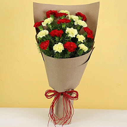 lovely carnations bouquet online