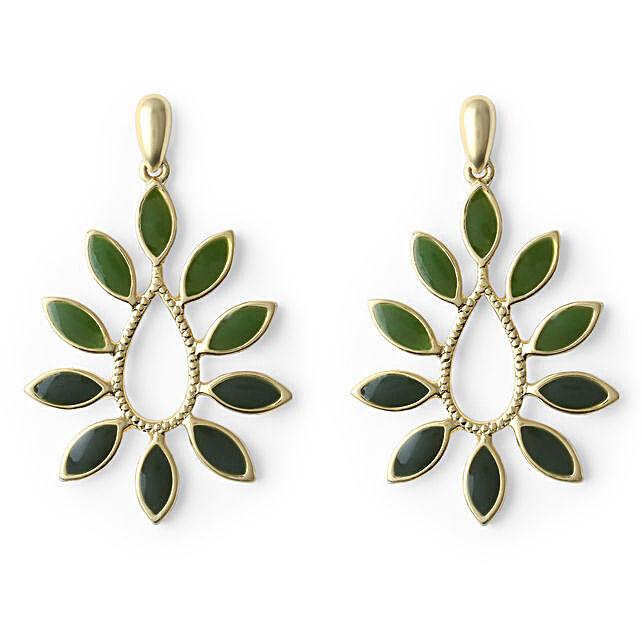 24 Kt. Leaf Vine Earrings Online