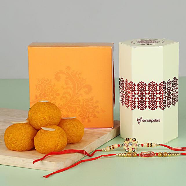 best rakhi set n sweet for brother online