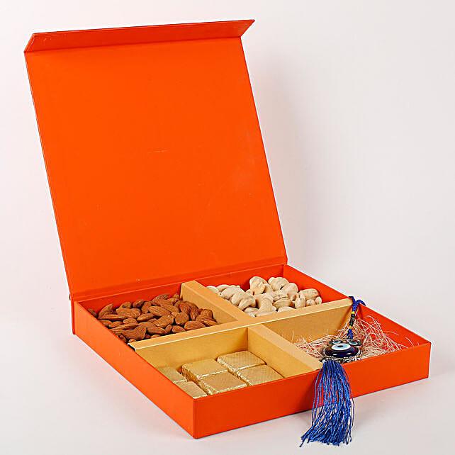Diwali sweet surprise with evil eye