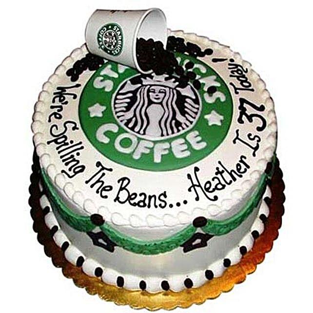 Excess Starbucks Cake 2kg:Send Birthday Cakes to Amritsar