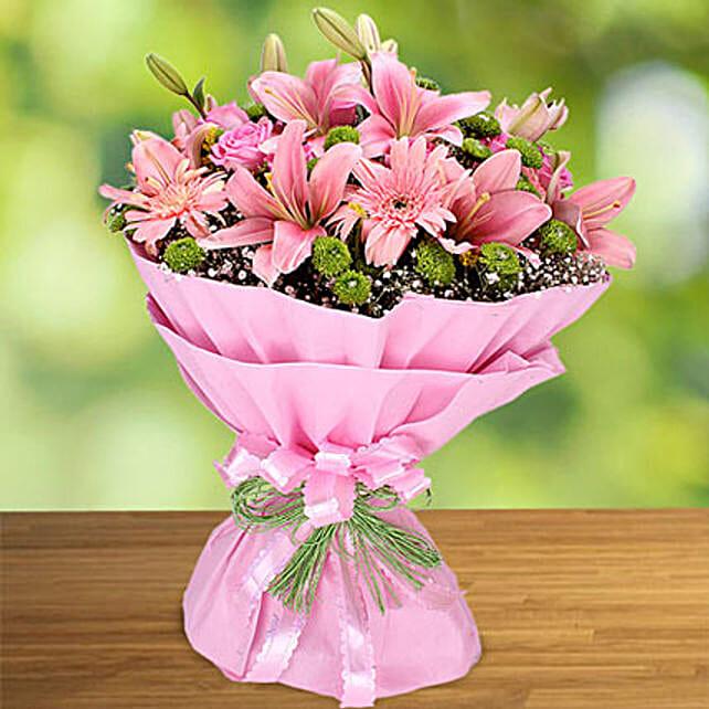Exotic Charisma of Pink:Send Anniversary Gifts for Bhaiya Bhabhi