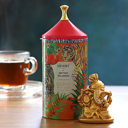 Exotic Earl Grey Black Tea Pack With Ganesha Idol