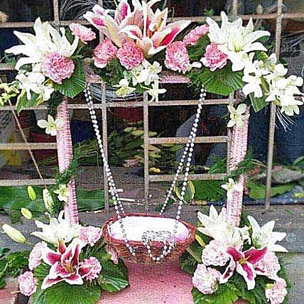 Exotic Flowers Stand Decoration