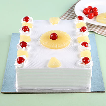 Exotic Pineapple Cake Half kg:Cakes to Welcome New Born