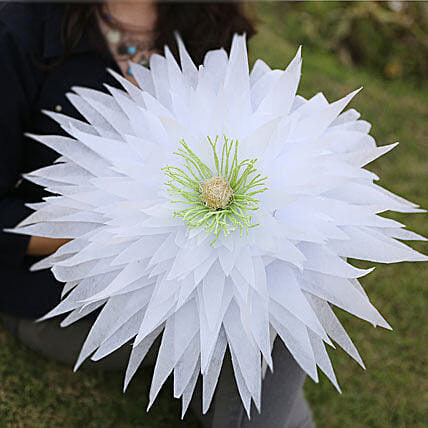 Exquisite Paper Flower-A white handmade paper flower