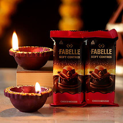 diwali candle n chocolates for diwali