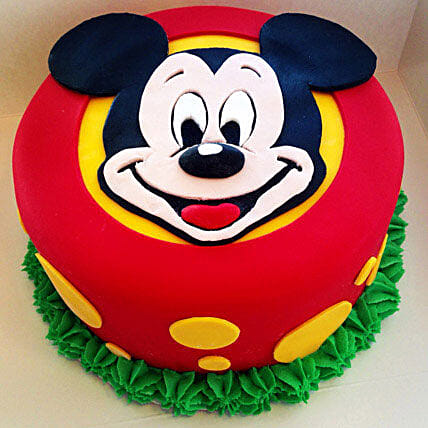 Fabulous Mickey Mouse Cake 1kg Black Forest