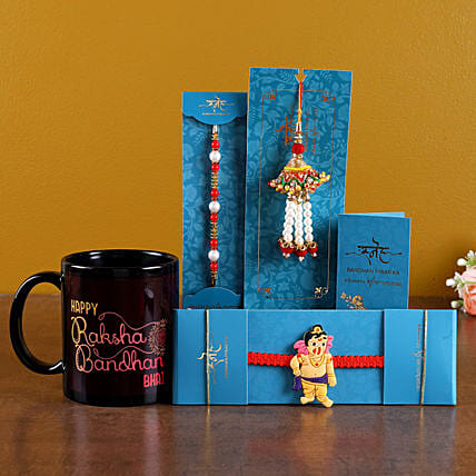Happy Rakhi Printed Mug With Rakhi