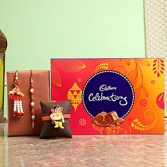 Family Rakhi Set With Celebrations Box