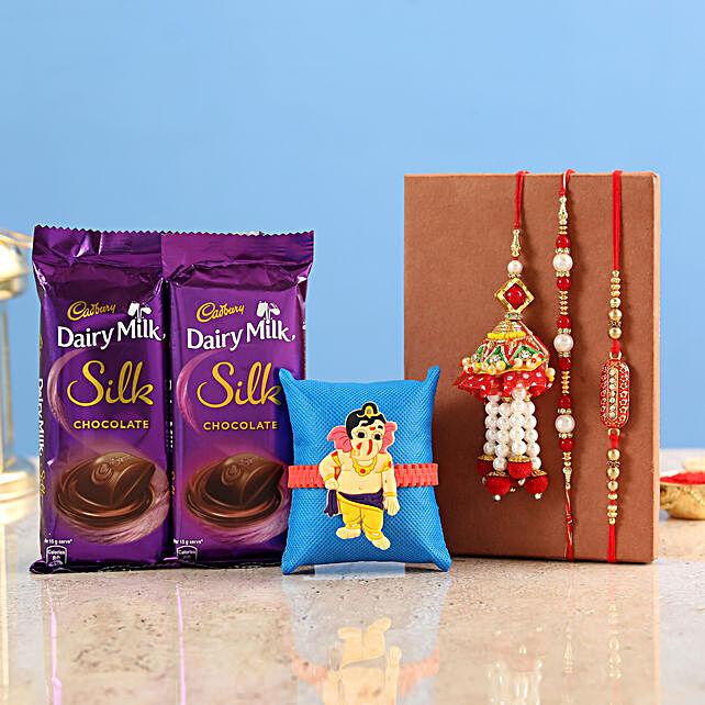 Rakhi Set With Kids Ralhi & Chocolate