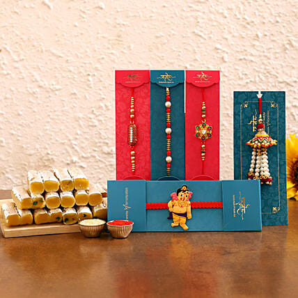 Rakhi Sets For Brother with Mithai