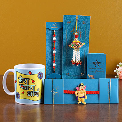 Family Rakhi Set with Mug Online