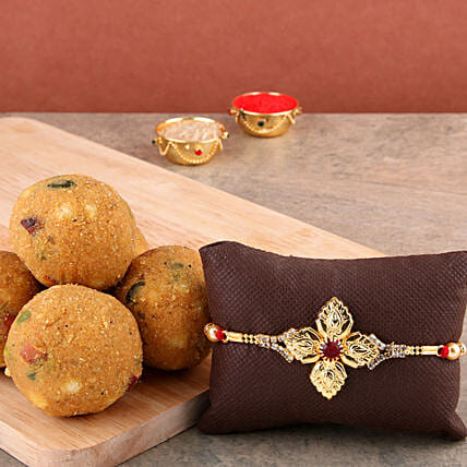 Fancy Golden Rakhi Combo