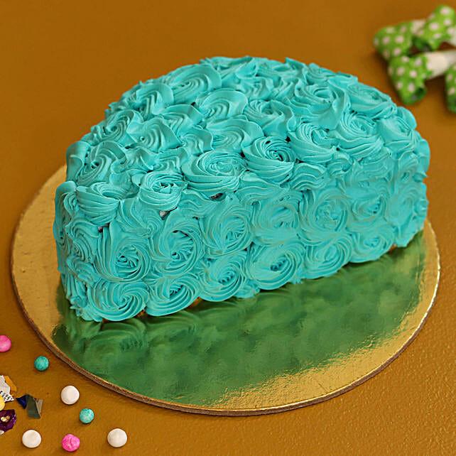 blue half shape cake online
