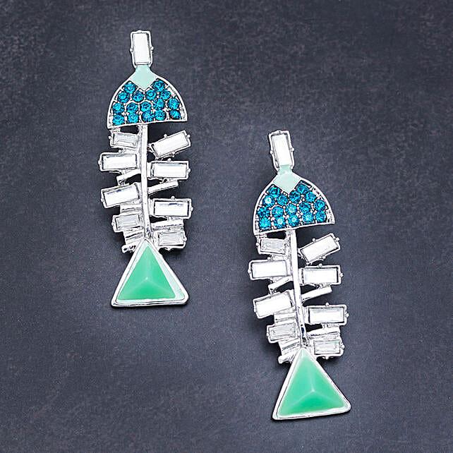 Earrings with rhinestone