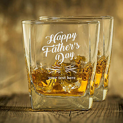 happy fathers day whiskey glasses:Bar Accessories For Dad