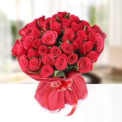 Feelings - Bunch of 40 Red Roses.