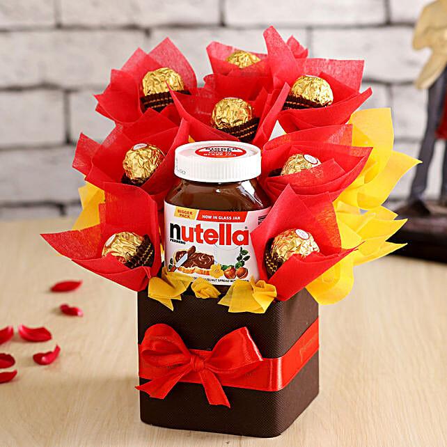 Ferrero Rochers & Nutella Vase- Hand Delivery