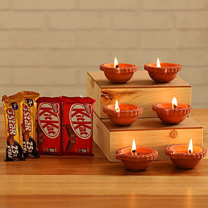 Festive Diyas Assorted Chocolates:Send Cadbury Chocolates