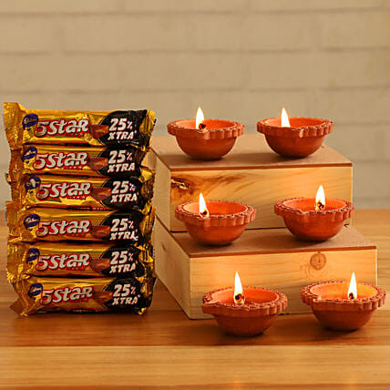 Festive Diyas Five Star Chocolates:Send Cadbury Chocolates