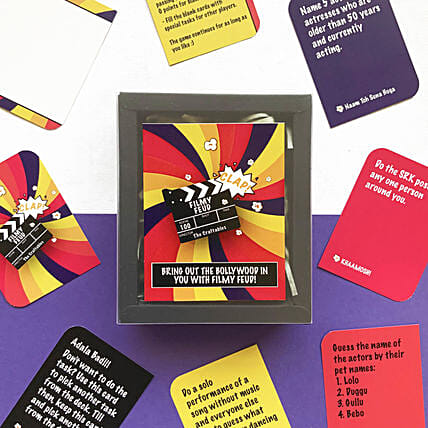 Filmy Feud Cards Game