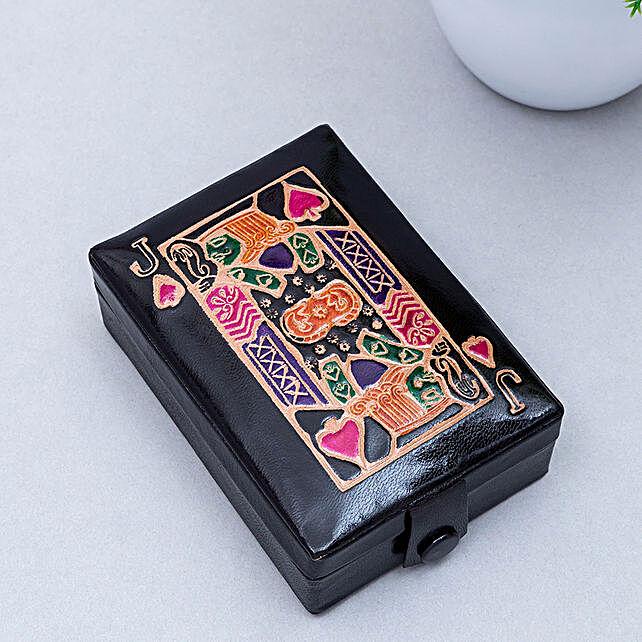Hand Painted Jewellery Organiser Box Violet