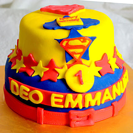 OnlineFirst Birthday Superman Cake