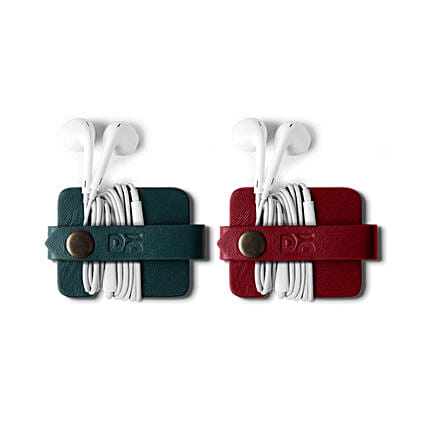 Flake Cable Wrap Red & Green- Set of 2