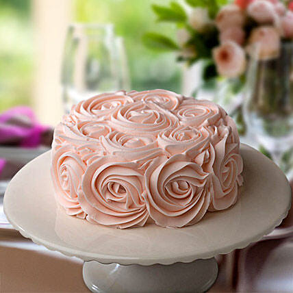 Rosy Pink Choco Cake:Mothers Day Gifts