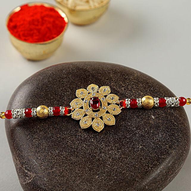 Floral Golden Rakhi