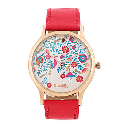 Floral Peacock Wrist Watch