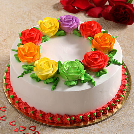 Flower Tiara Chocolate Cream Cake