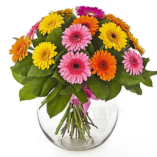 Flowers Of Paradise Gerberas Vase