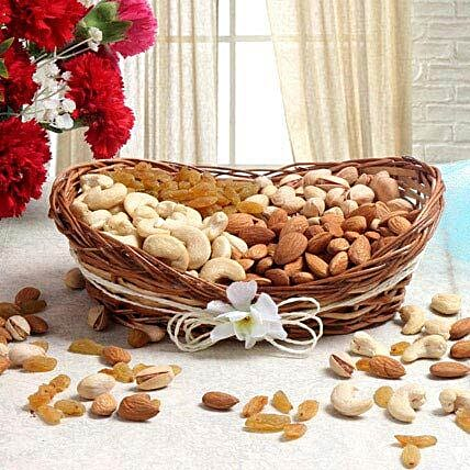 Basket of mix dry fruits