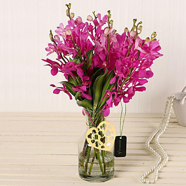 Online Pink Orchids In Vase