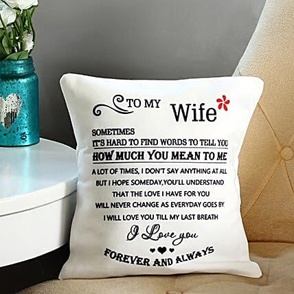 Quoted cushion for wife