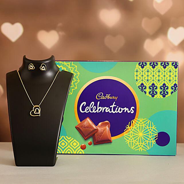 Forever Heart Necklace Set Celebrations Box:Ilina Gift Sets