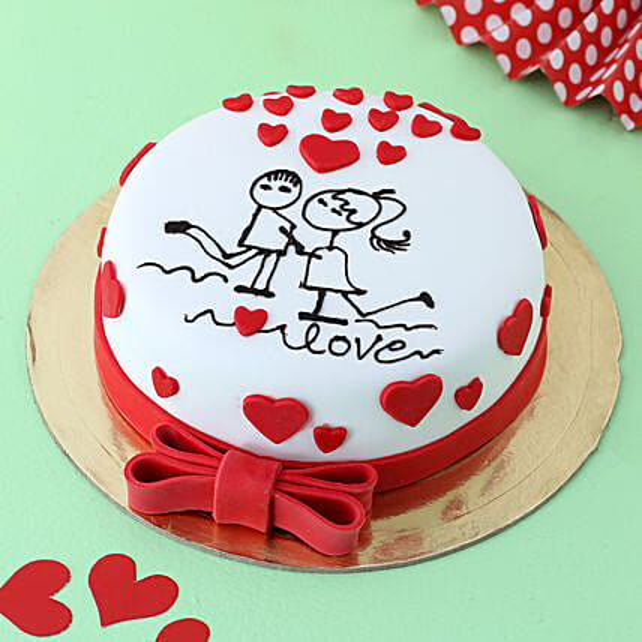 Forever In Love Fondant Cake