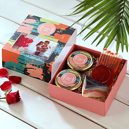 Fragrant Bath Essentials Personalised Box:Cosmetics N-spa-hampers for Her